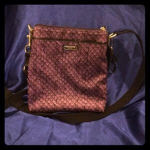 👜❤️ COACH ❤️👜 Purple Snakeskin Pattern Crossbody